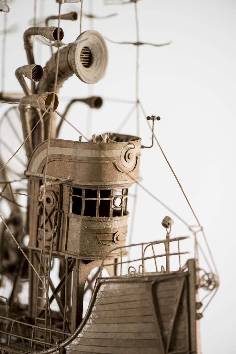sculptural airships cardboard 3