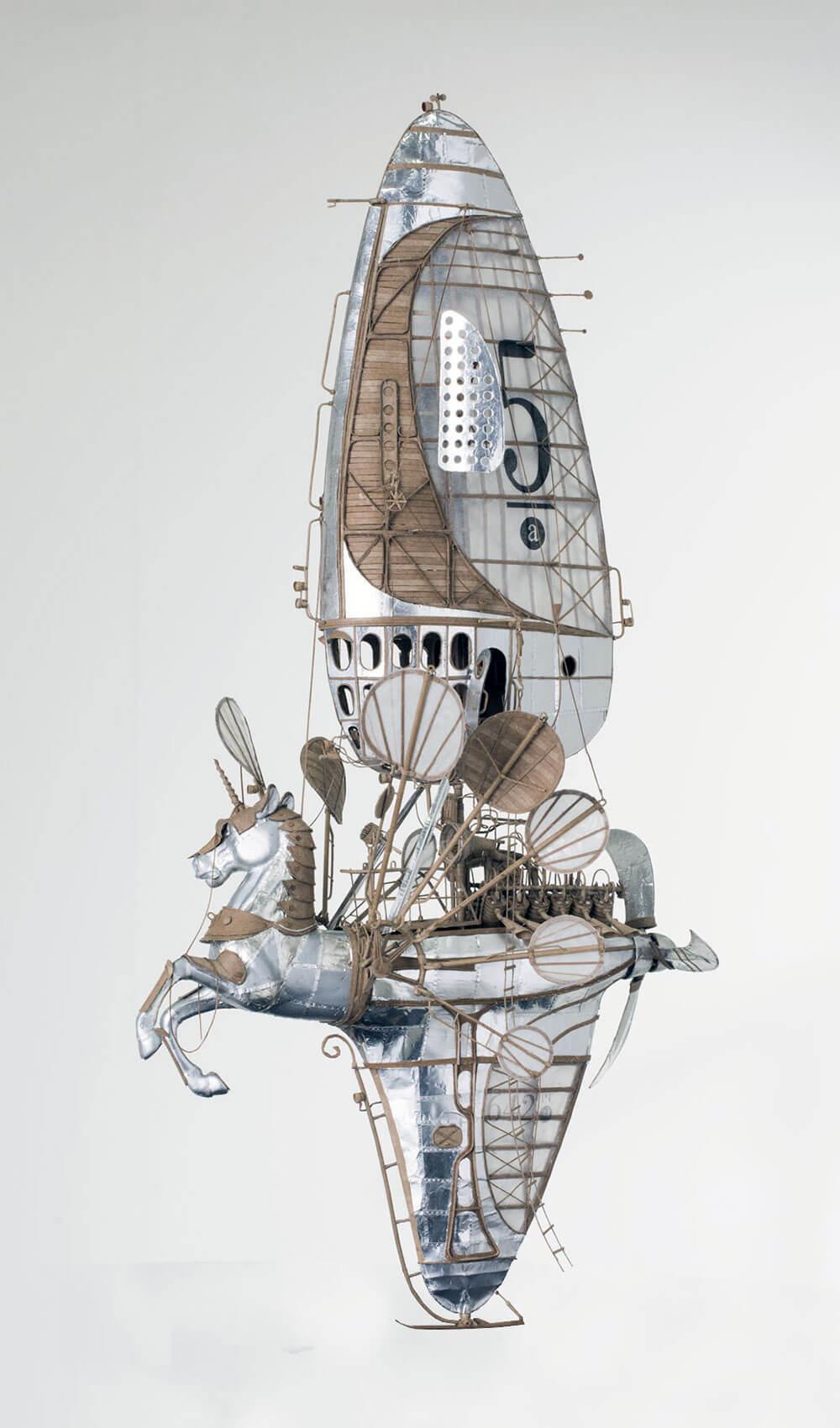 sculptural airships cardboard 5