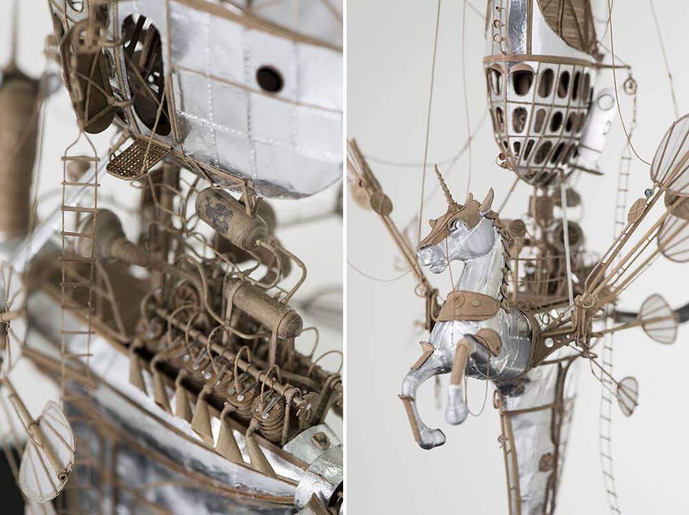 sculptural airships cardboard 6