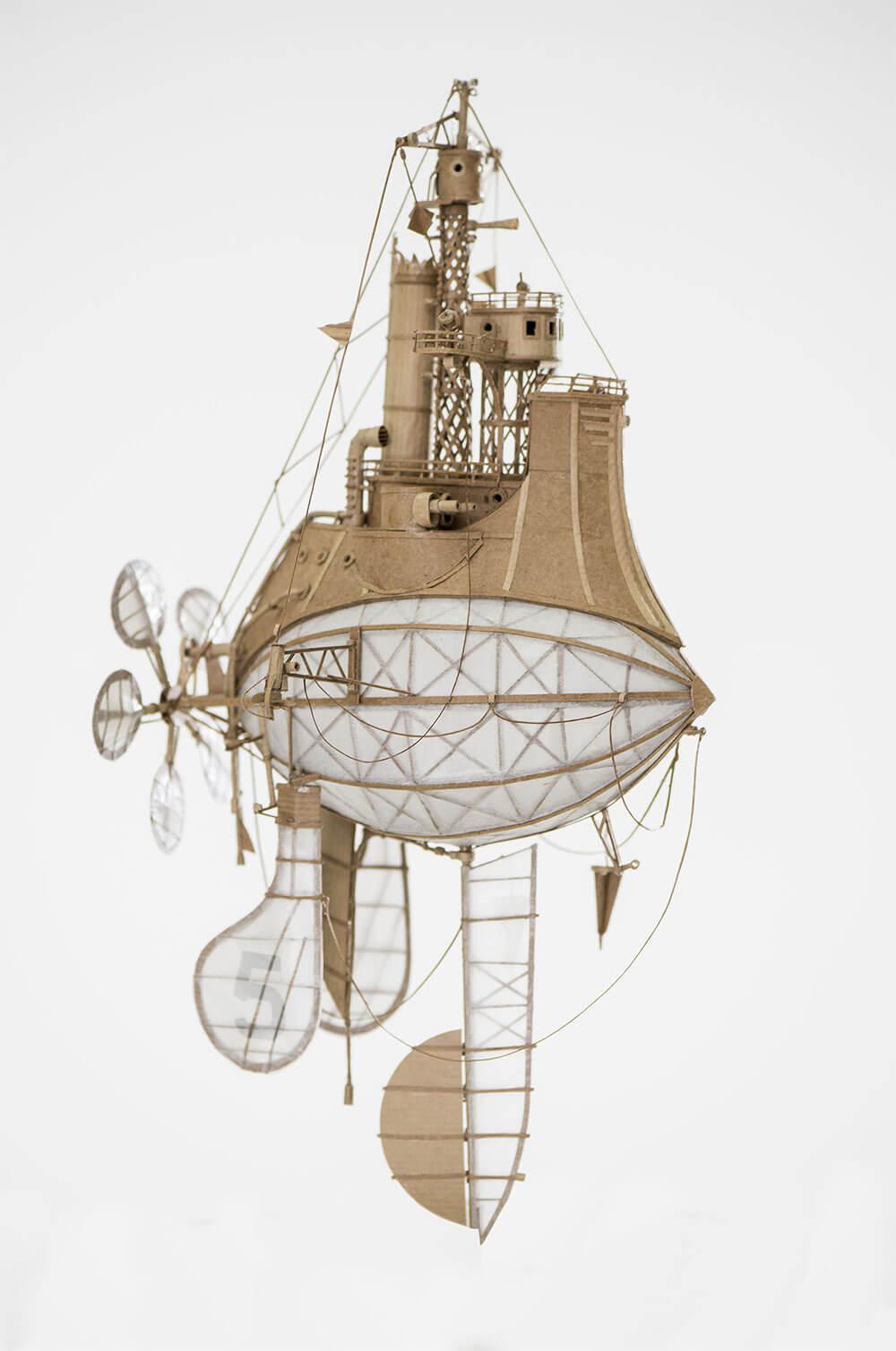 sculptural airships cardboard 9