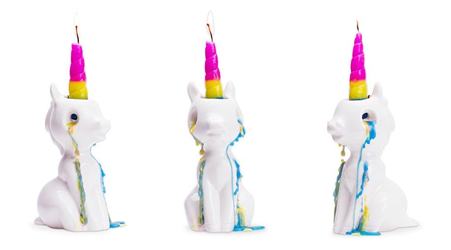 unicorn tears rainbow candle 1