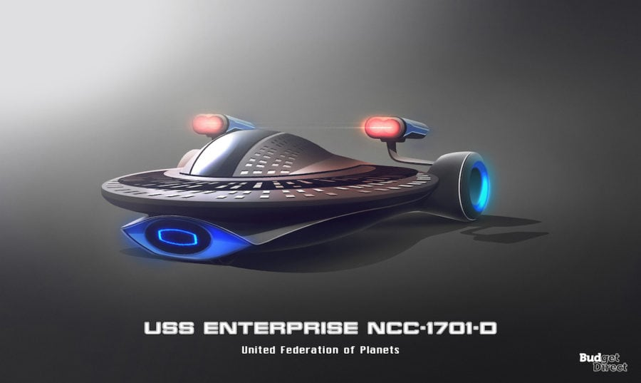4 USS Enterprise NCC 1701 D