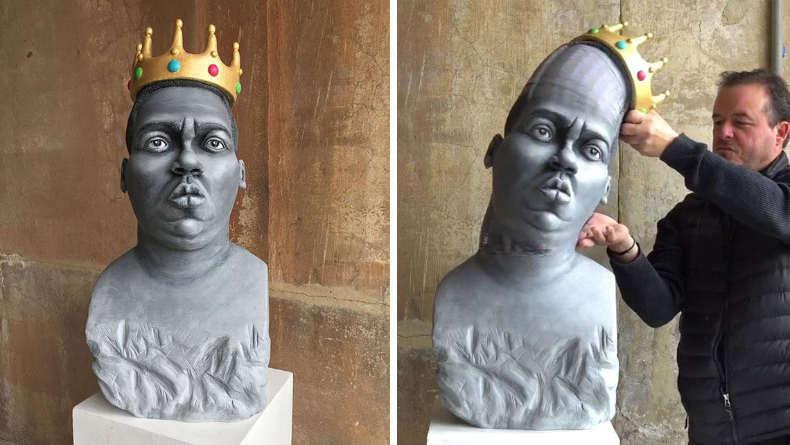 This Stretchable Sculpture Of The Notorious B.I.G. Will Trip You Out