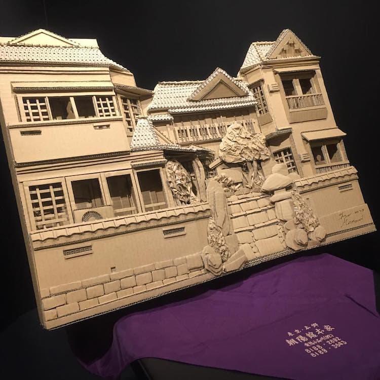 amazon cardboard box art monami ohno 15