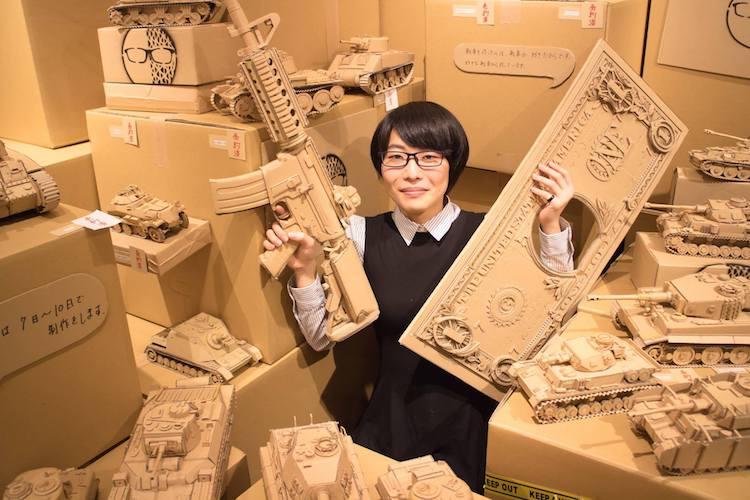 amazon cardboard box art monami ohno 9