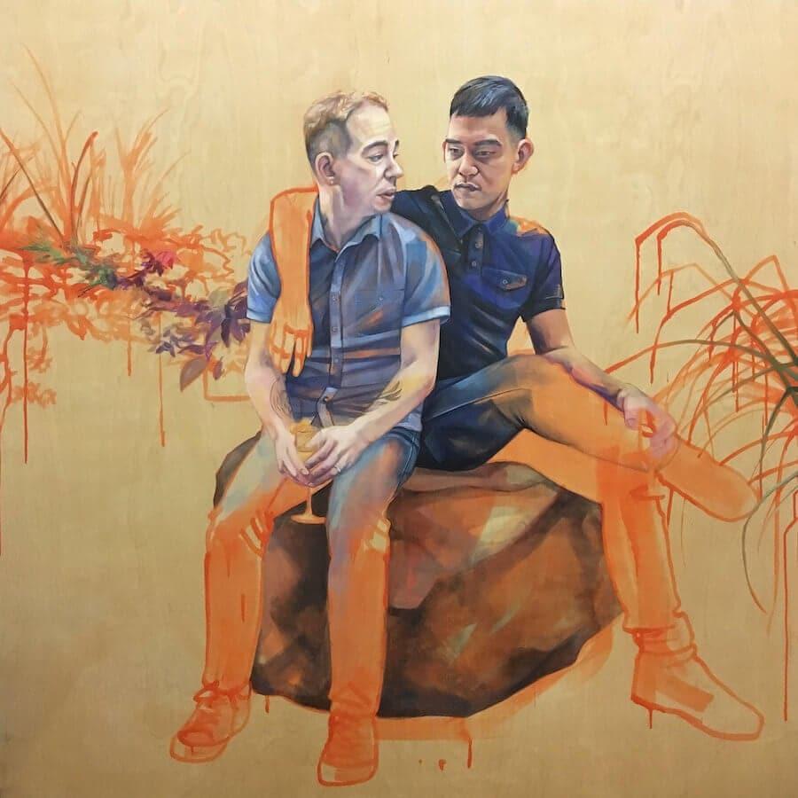interracial couples paintings leslie barlow 3