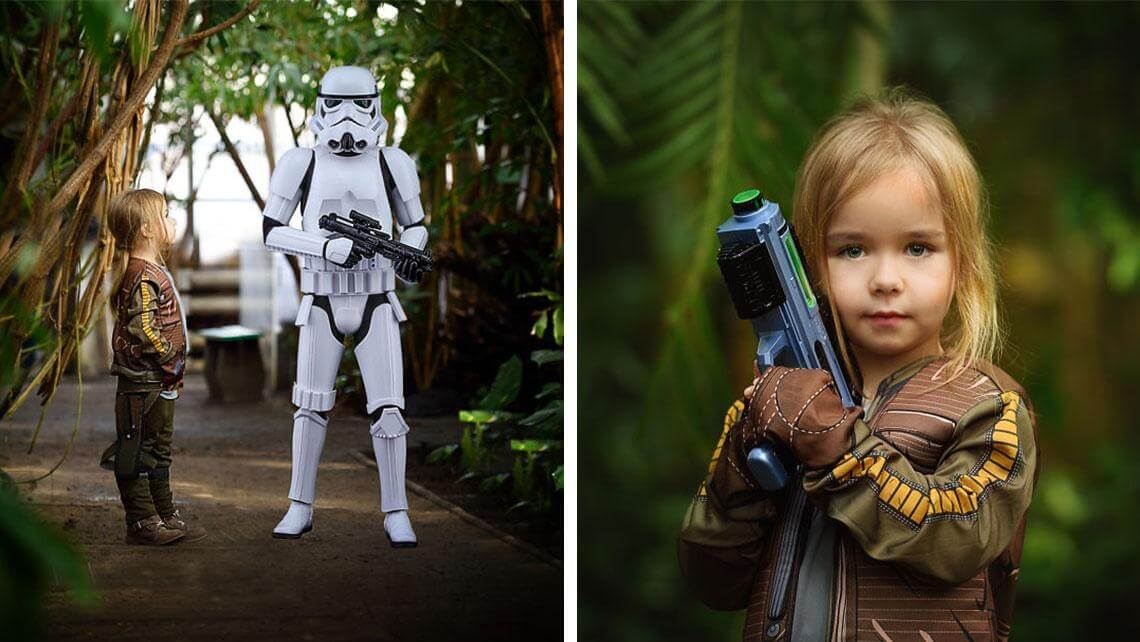 mom made cutest star wars photoshoot 9