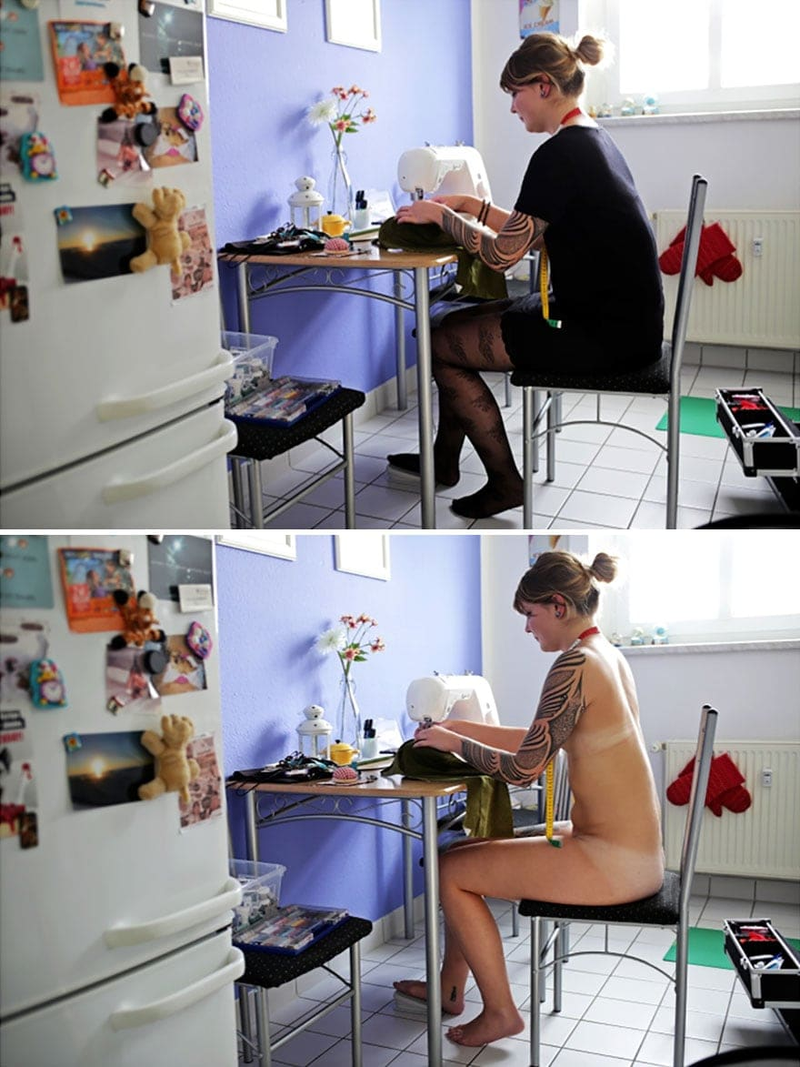 people doing everyday things with and without clothes sophia vogel 15