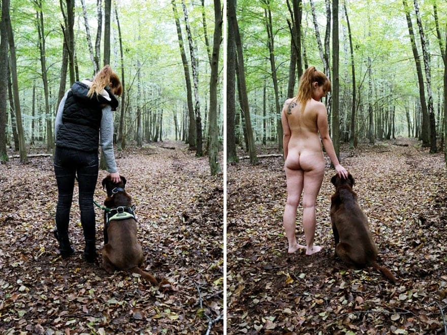 people doing everyday things with and without clothes sophia vogel 5