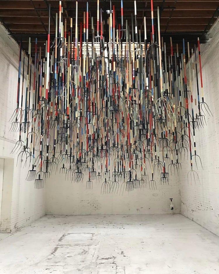 pitchfork installation simon birch 9