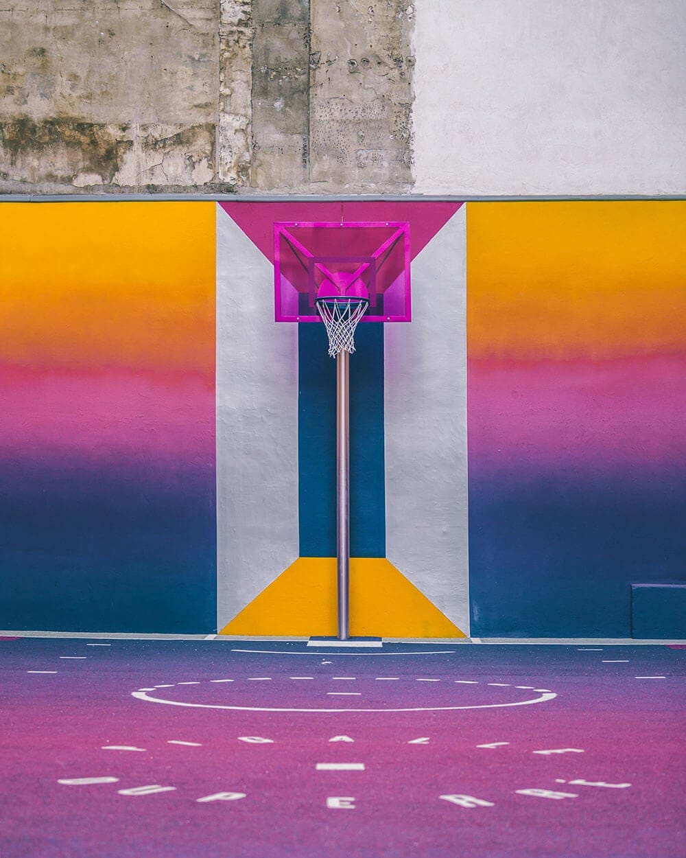 a technicolor basketball court emerges in paris fy 2