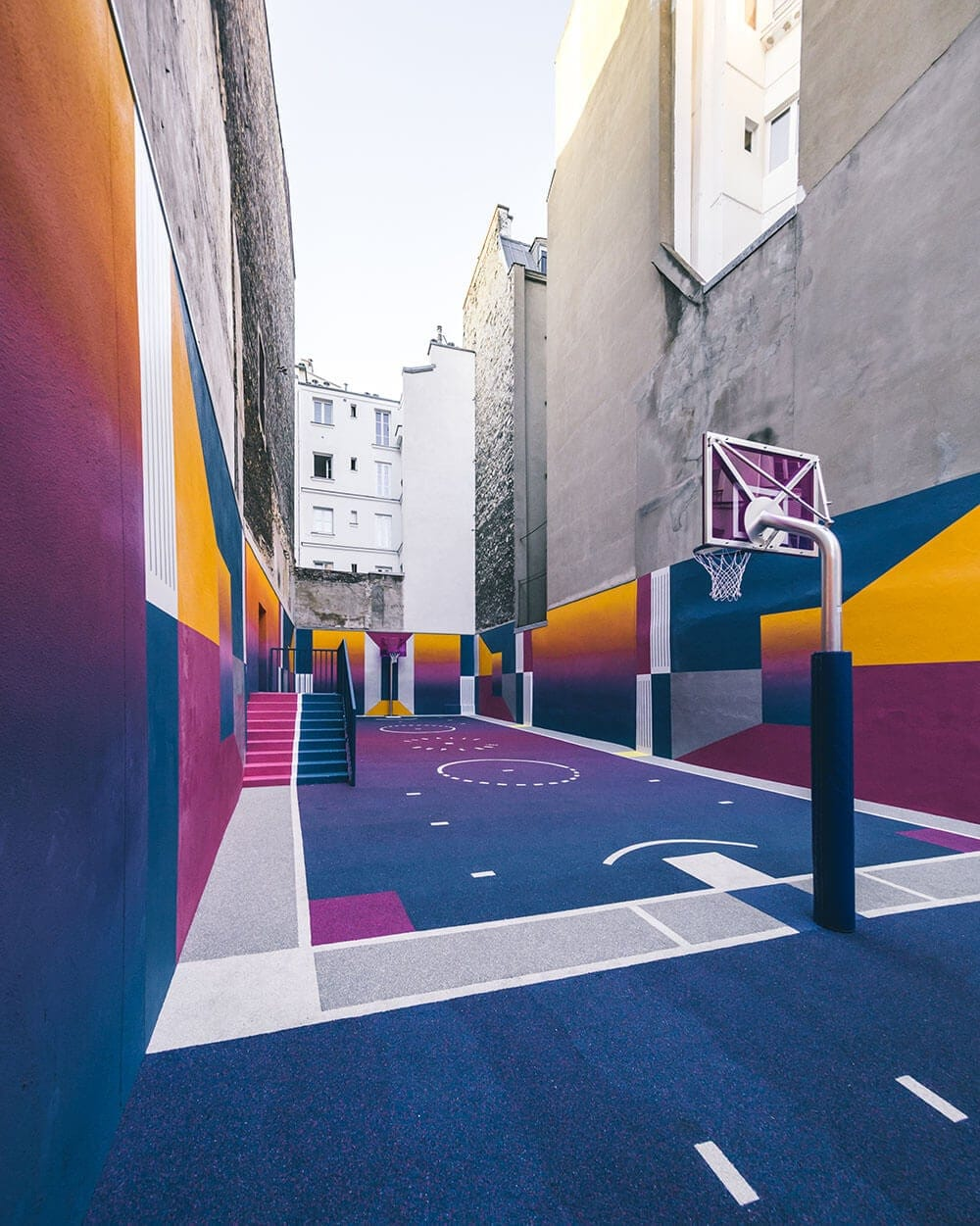 a technicolor basketball court emerges in paris fy 4