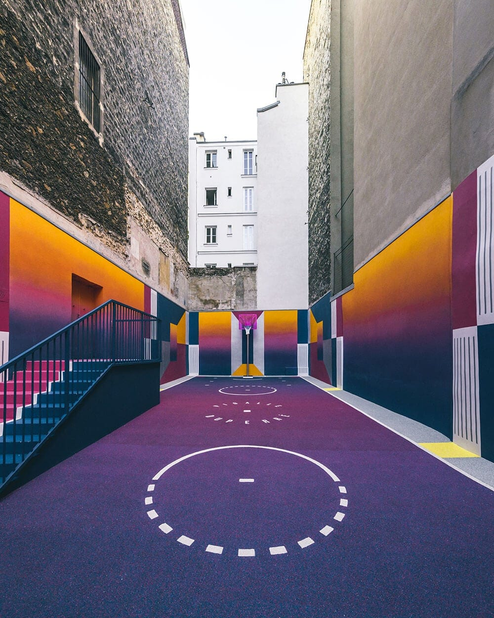 a technicolor basketball court emerges in paris fy 8