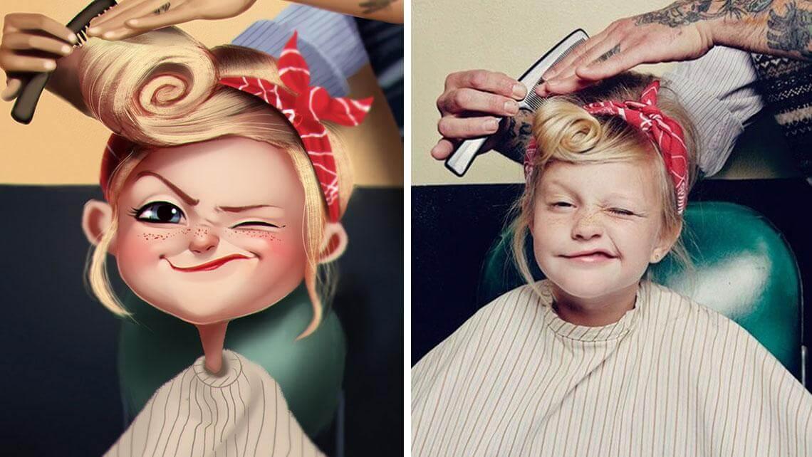artist makes playful illustrations photos stranger internet 10