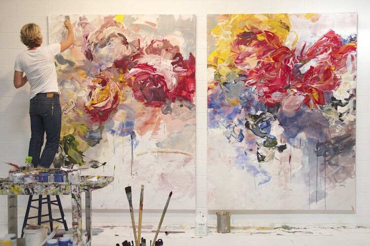 bobbie burgers abstract floral paintings fy 10