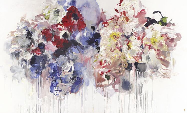 bobbie burgers abstract floral paintings fy 2
