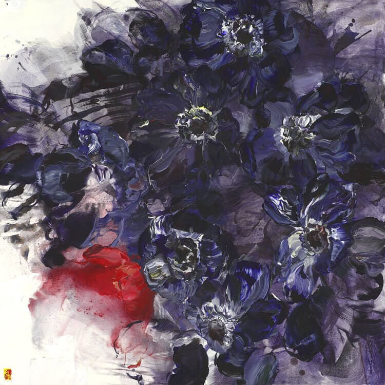 bobbie burgers abstract floral paintings fy 3