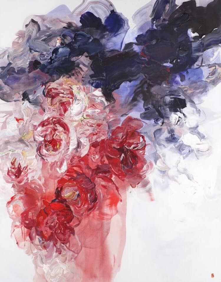 bobbie burgers abstract floral paintings fy 4