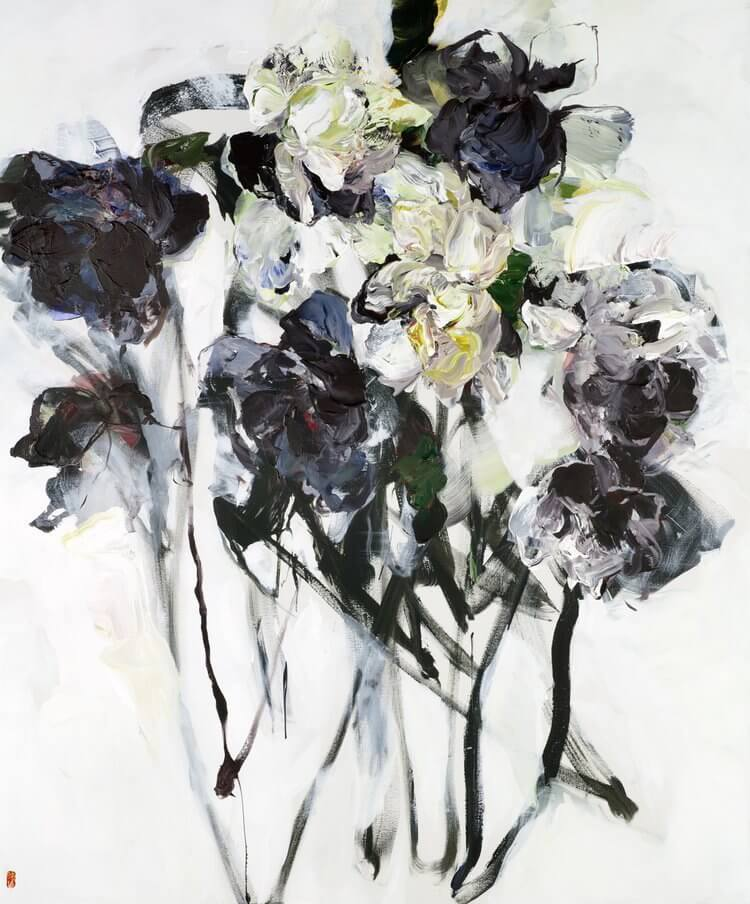 bobbie burgers abstract floral paintings fy 5
