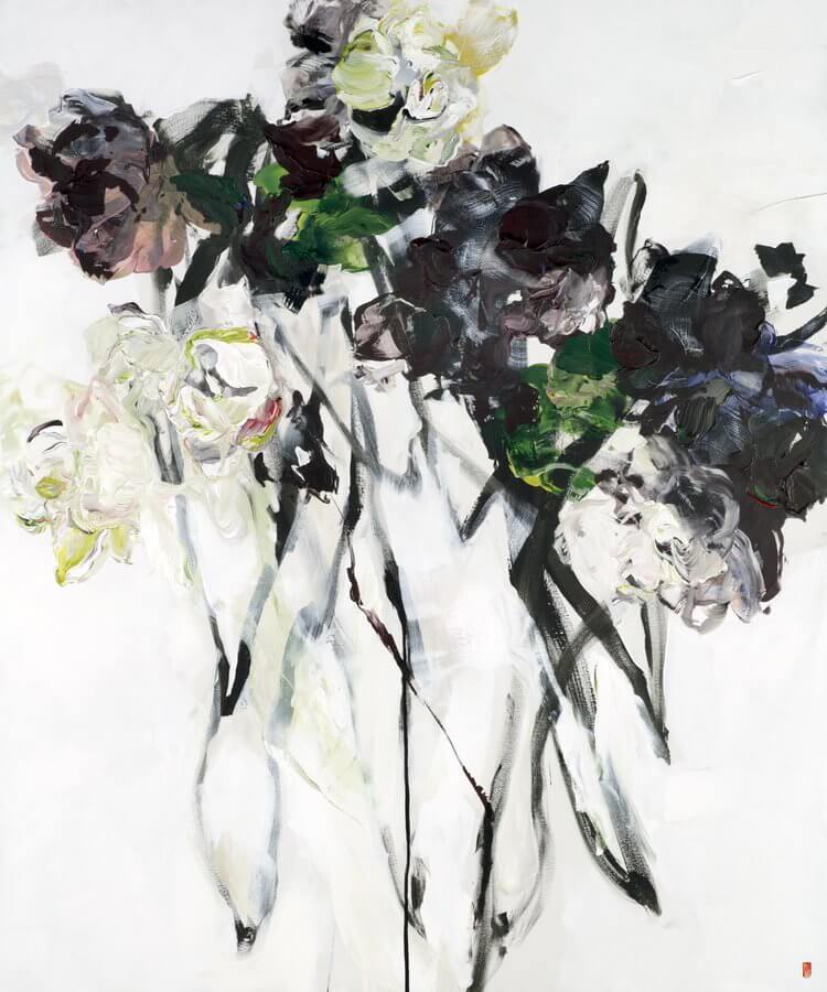 bobbie burgers abstract floral paintings fy 6