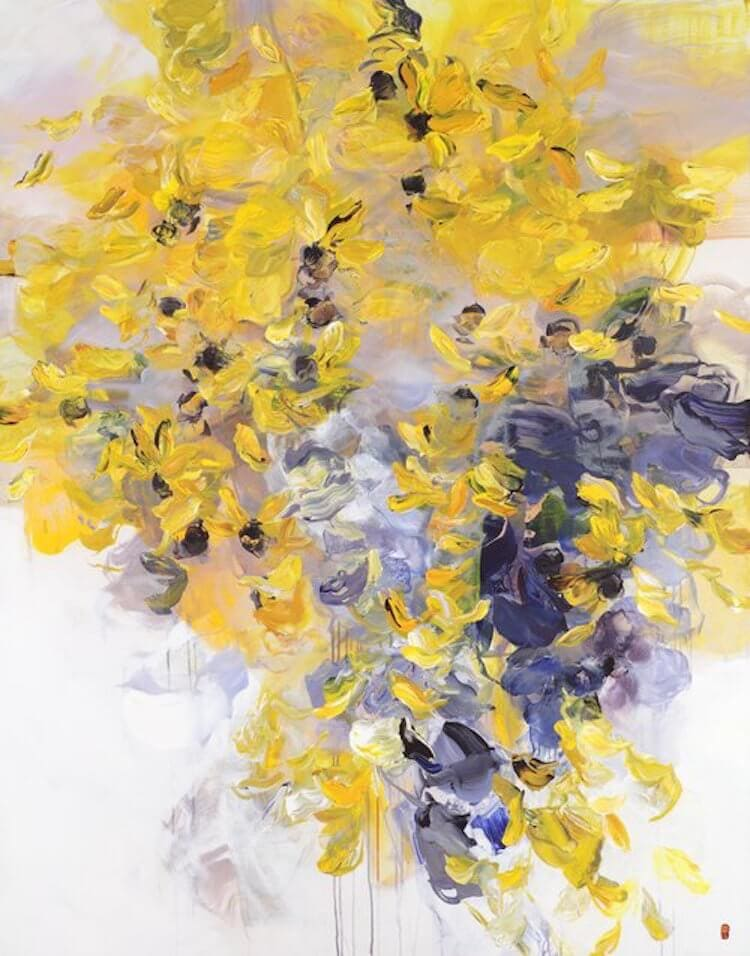 bobbie burgers abstract floral paintings fy 8
