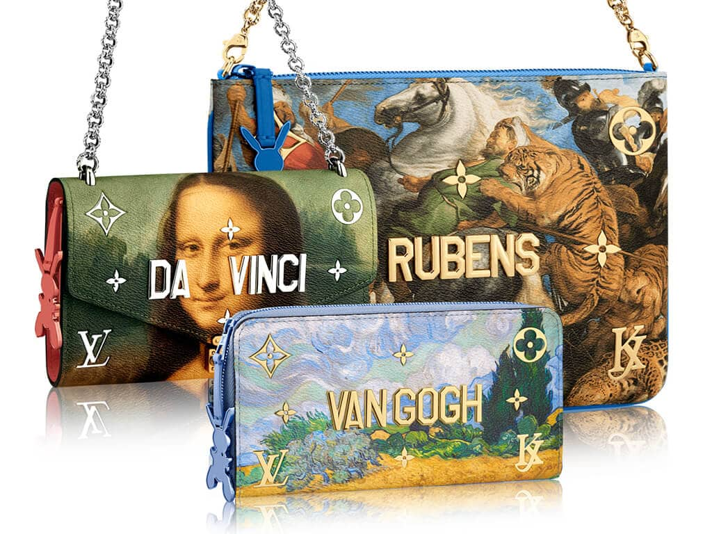 classic paintings bags
