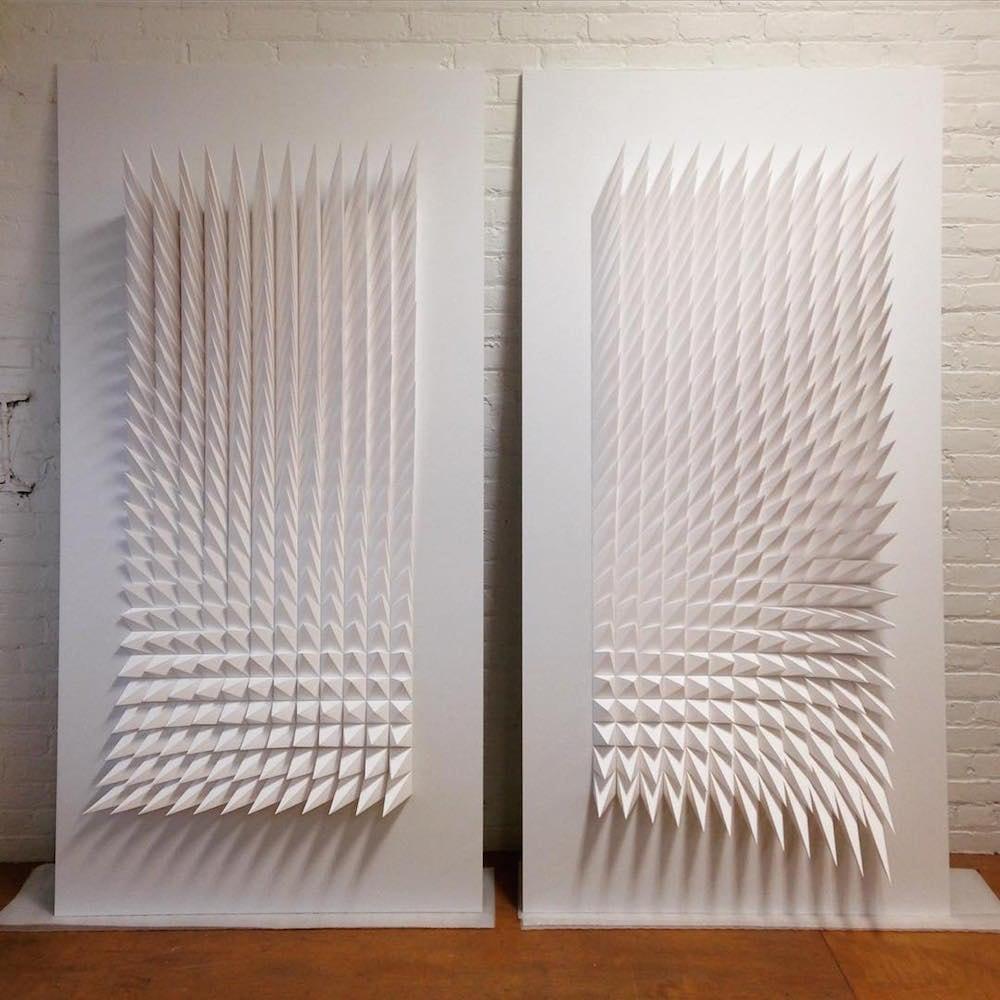 geometric paper sculptures matthew shlian fy 1