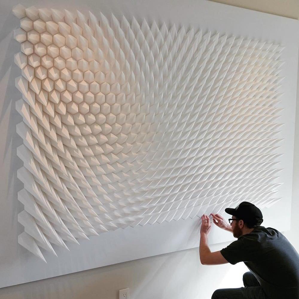 geometric paper sculptures matthew shlian fy 2