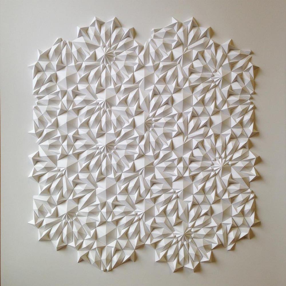 geometric paper sculptures matthew shlian fy 3