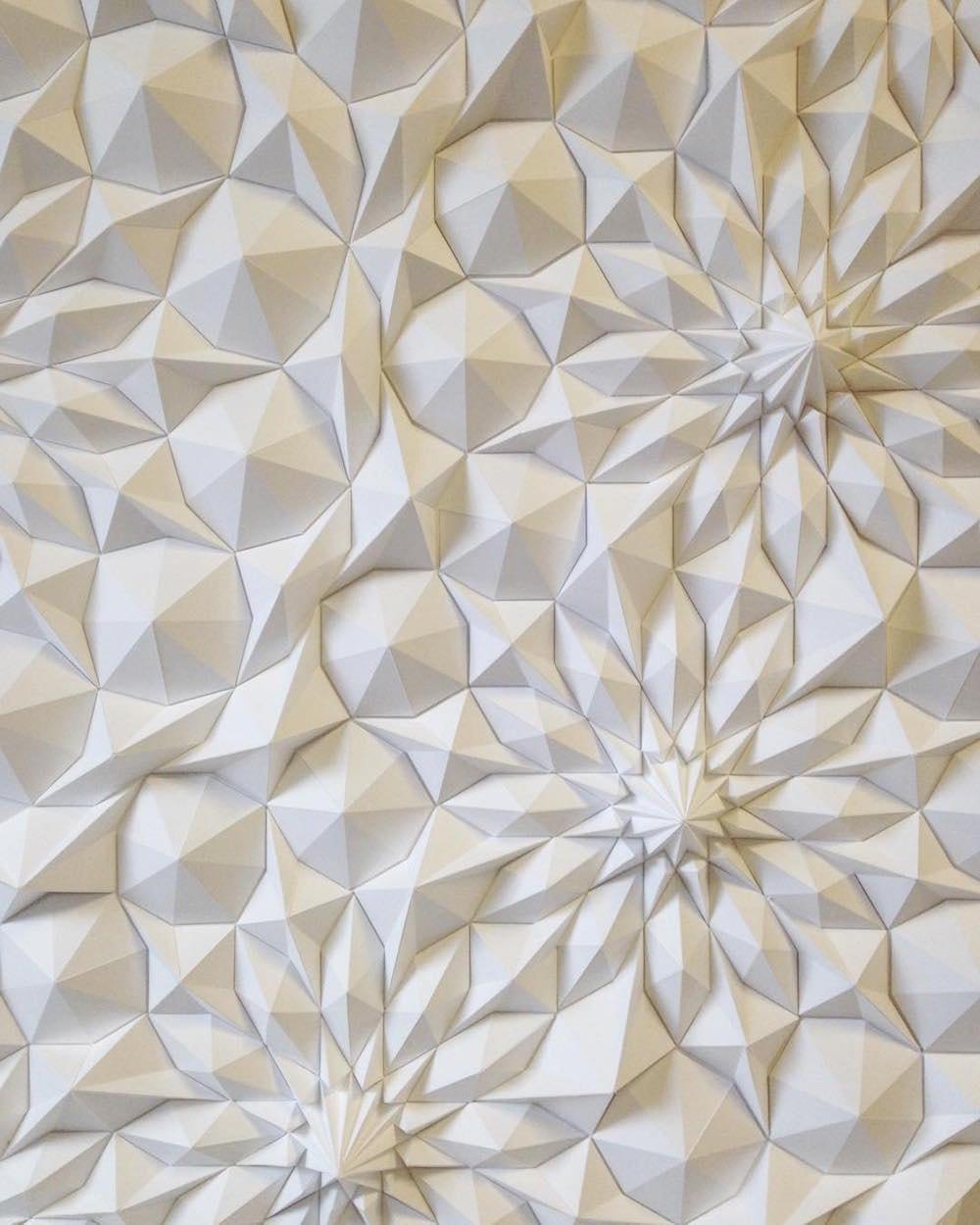 geometric paper sculptures matthew shlian fy 4