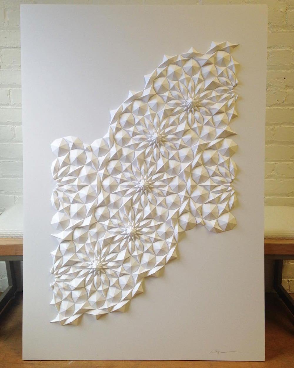 geometric paper sculptures matthew shlian fy 5