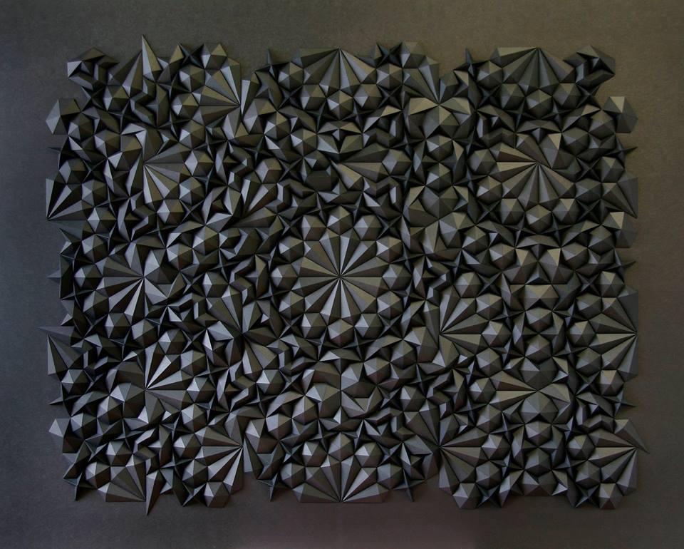 geometric paper sculptures matthew shlian fy 6