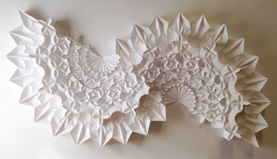 geometric paper sculptures matthew shlian fy 8
