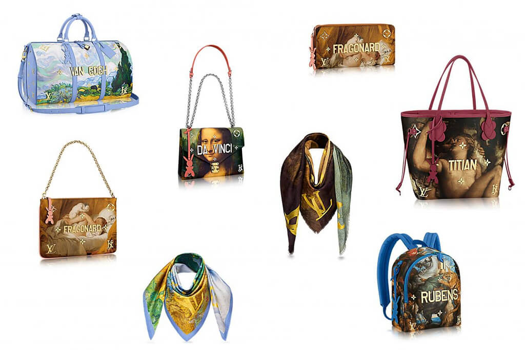 louis vuitton classic paintings bags
