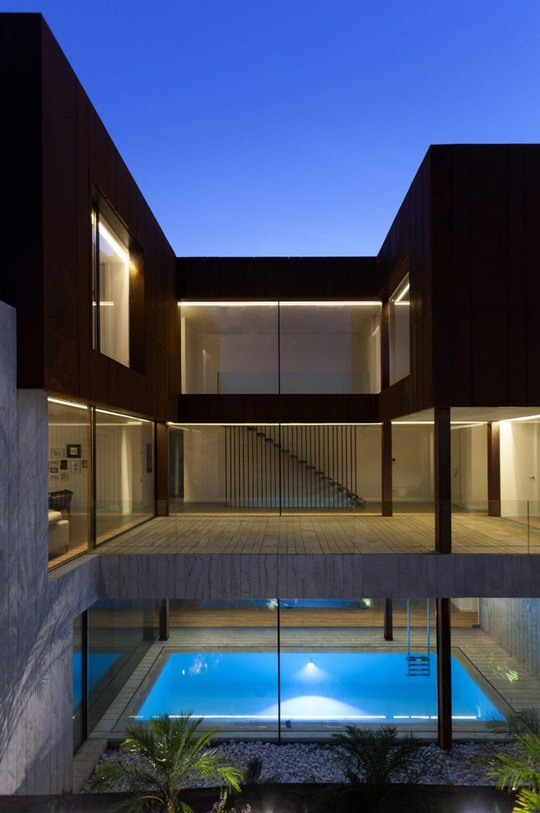 modern villa in spanish mountains 1