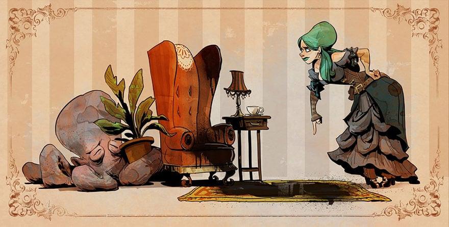 octopus otto and victoria steampunk illustrations walt disney brian kesinger fy 1