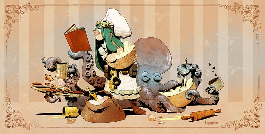 octopus otto and victoria steampunk illustrations walt disney brian kesinger fy 6