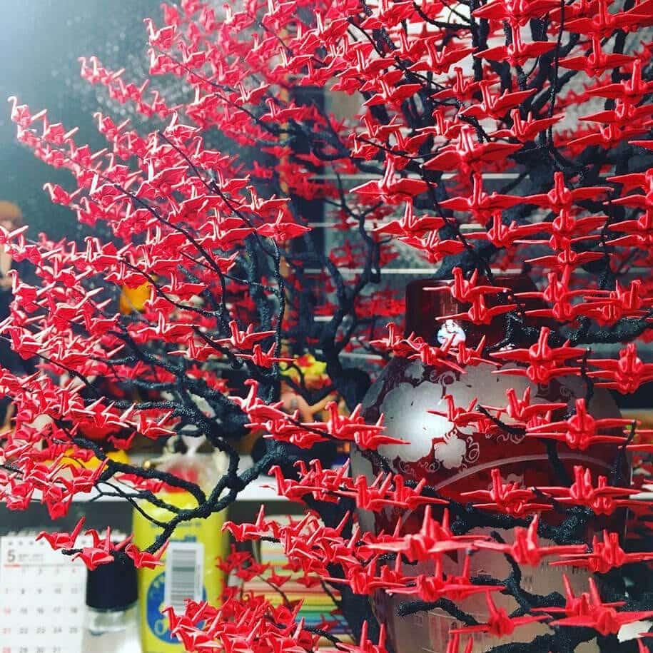 origami cranes bonsai trees naoki onogawa 11
