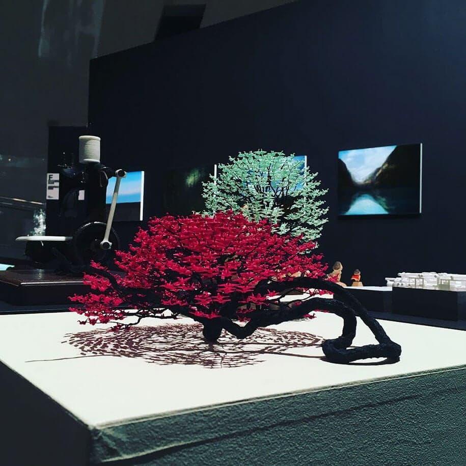 origami cranes bonsai trees naoki onogawa 6