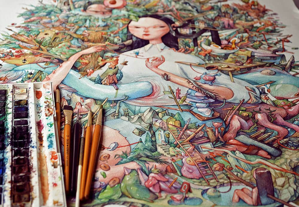 watercolor illustrations marija tiurina fy 1