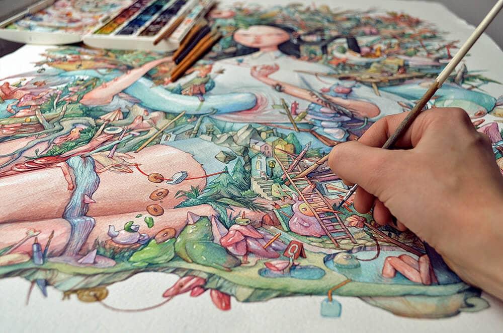 watercolor illustrations marija tiurina fy 5