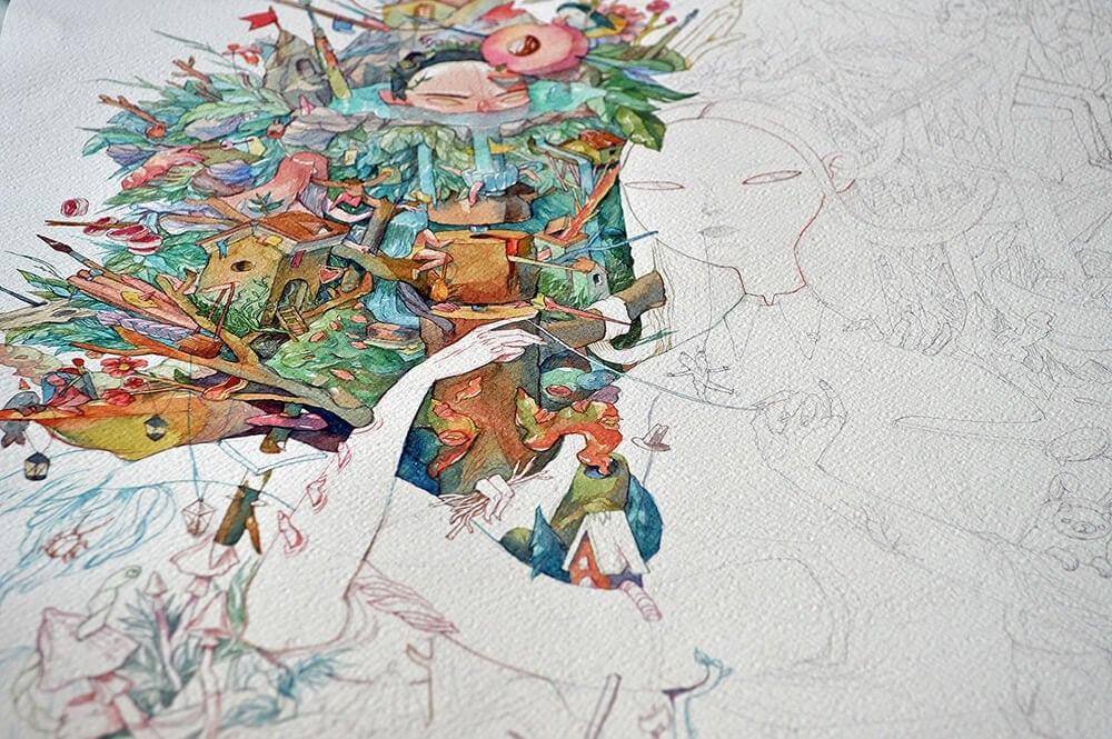 watercolor illustrations marija tiurina fy 7