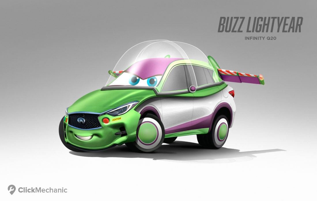 If 8 Popular Pixar Characters Joined The Cars Universe Freeyork