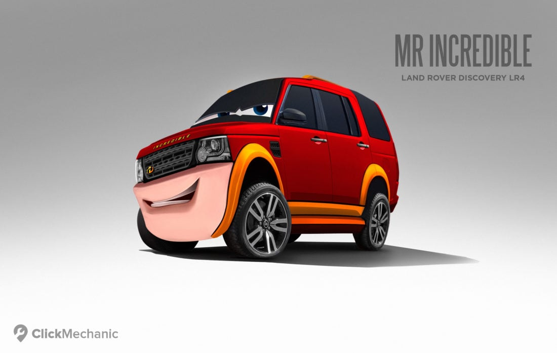 3 Mr Incredible Land Rover Discovery