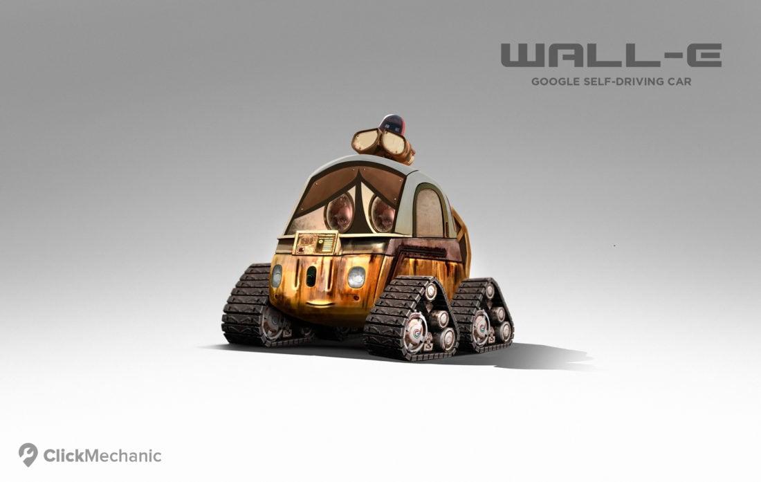 8 WALL E Google Self Driving Car