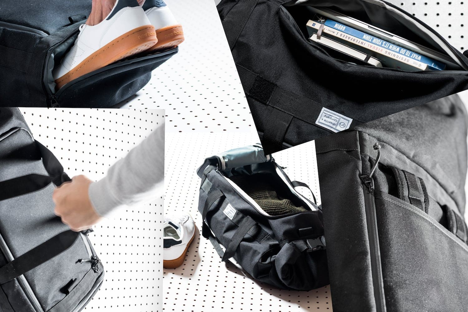 Commuter Duffle Pack Features Collage