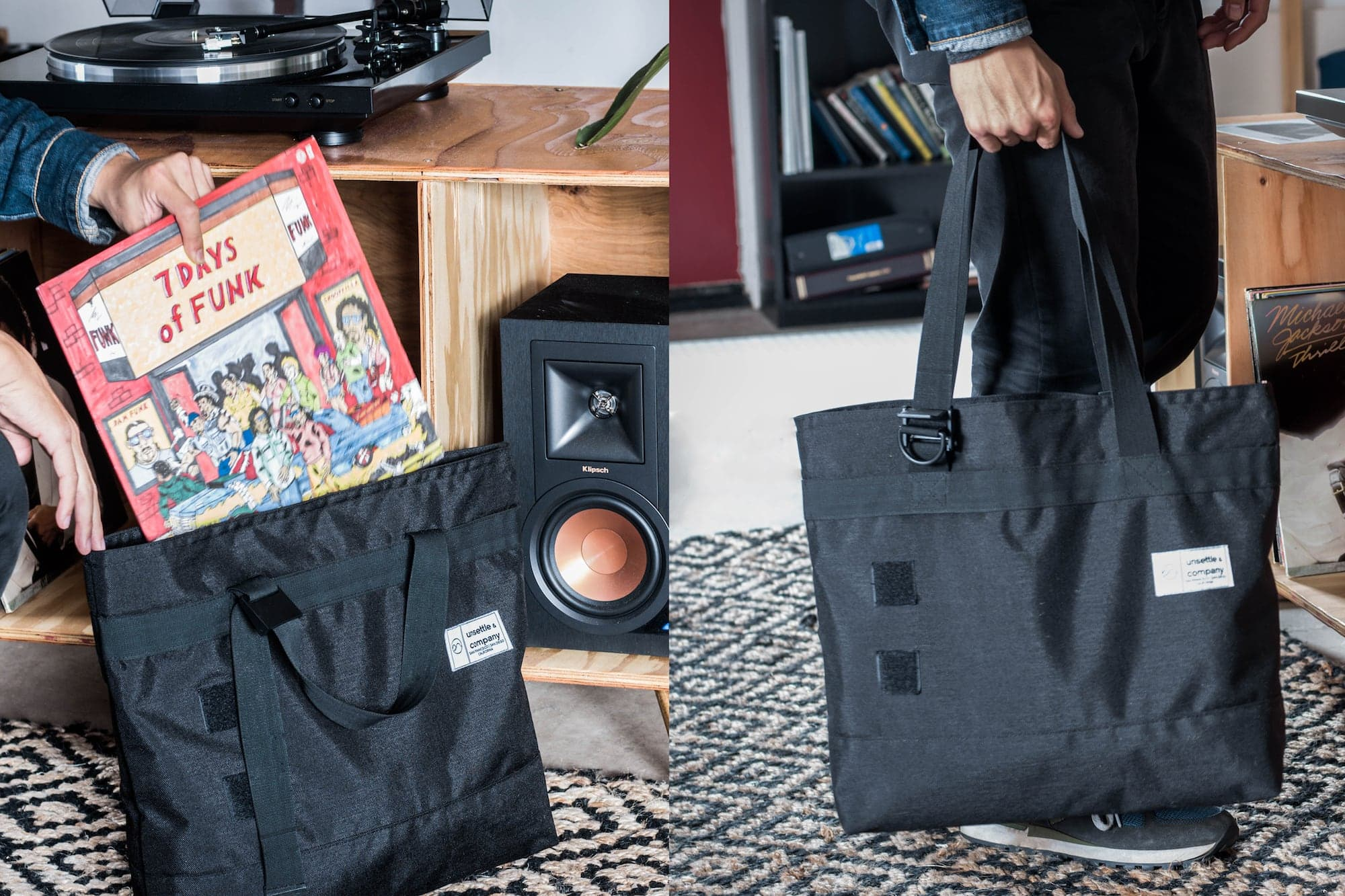 commuter tote bag collector lifestyle collage