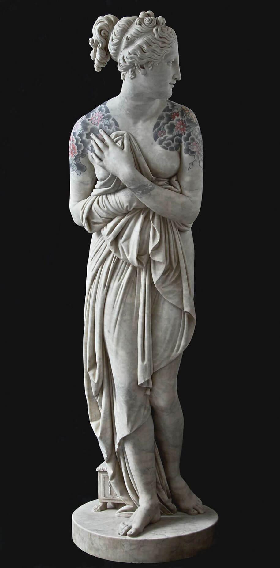 italian artist gives classical sculptures criminal tattoos fy 10