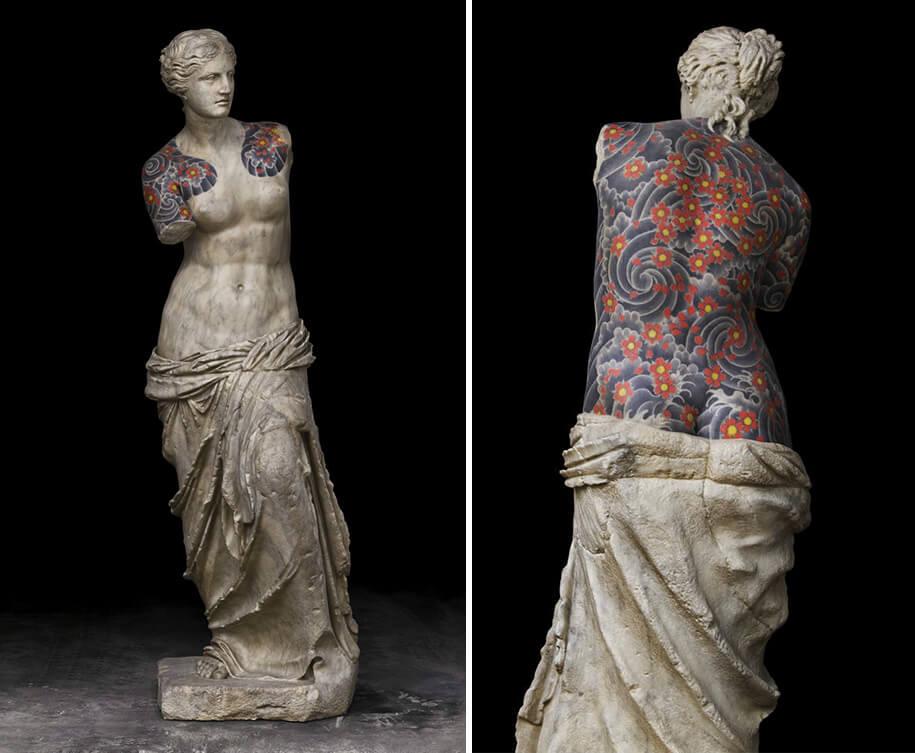 italian artist gives classical sculptures criminal tattoos fy 3