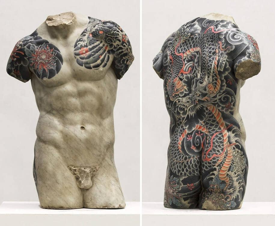 italian artist gives classical sculptures criminal tattoos fy 6